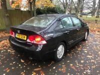 2006 Honda Civic 1.3 hybrid saloon black automatic spares or repair
