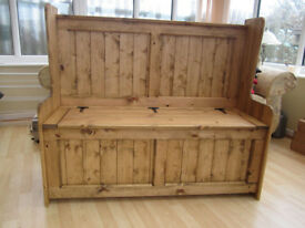 Church Pew, Monks Bench / Storage Box (4ft 5ft 6ft ) (ANY SIZE MADE )