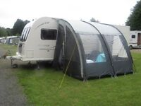 EXTRA LARGE PORCH AWNING - INCLUDING CARPET COST £325 - PUT UP ONCE & COMES IN BAGS
