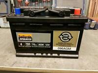 Halfords advanced start stop system car battery 4 year guarantee