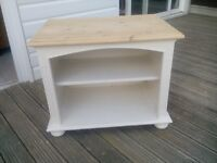 Pine solid shabby chic tv cabinet