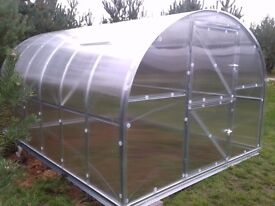 Super strong and stable greenhouse covered with polycarbonate, up to 40m2