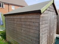 6x8 wooden garden shed