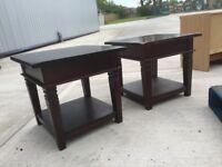 solid dark wood coffee tables