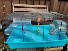 Hamster cage, complete kit and ready to go