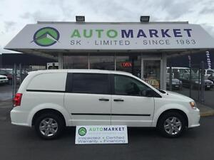 2012 Dodge Grand Caravan CARGO VAN BLUETOOTH, BULKHEAD, SHELVING
