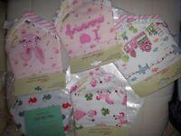 Brand new selection of new baby bandana drool bibs girls pet and smoke free home xmas gift stocking