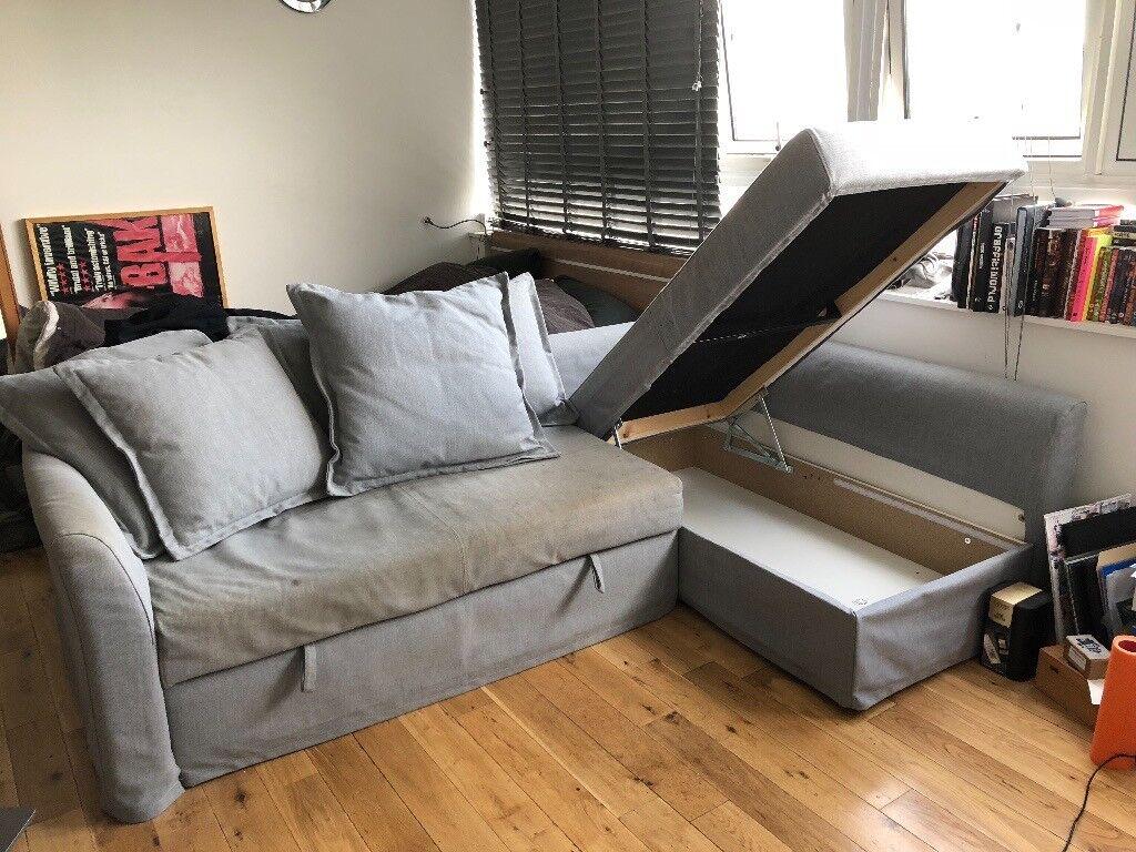 Slightly Worn Ikea Holmsund Corner Sofa Bed In Clapham Junction