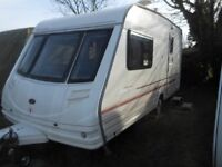 2 berth touring caravan - including awning - excellent condition