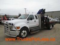 2007 Ford F-750 XLT, PICKER + SERVICE DECK!!!