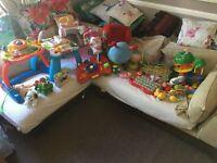 REDUCED Huge Bundle of baby toys, Vtech Walker, Fisher price Spin Zebra, wooden toys etc NW6
