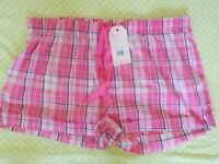 Pink night shorts - with labels (NEVER WORN) Size L