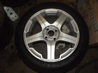 X CROSS NEW 16 INCH ALLOY WHEELS AND TYRES 4 STUD 100 MM PCD MG ROVER VW VAUXHALL FIAT BMW Mini
