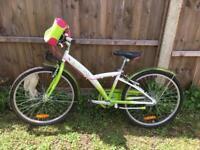 24' B'Twin kids bike + helmet