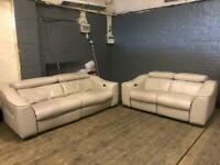 NATUZZI LEATHER SOFA SET ELECTRIC RECLINERS PRE-OWNED