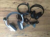 JOB LOT OF XBOX 360 PREMIUM TWIN CHANNEL HEADPHONES