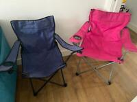 Camping fabric deck chairs