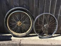 2x BMX wheels free collection Stubbington