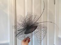 Louise Baker Seeley Dark Grey Fascinator