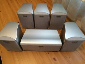 SONY HOME CINEMA 6 SPEAKERS, 8 Ohms, FULLY WORKING, CRYSTAL CLEAR SOUND, EXCELLENT CONDITION.