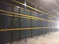 PLANNED STORAGE M SERIES BLUE & ORANGE INDUSTRIAL WAREHOUSE PALLET RACKING