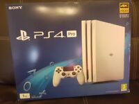 PlayStation 4 Pro White (PS4 Pro) - Brand New and Unopened