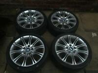 "Bmw 18"" MV2 M sport alloy wheels & Tyres e60 e61 - spider spyder, 5 series msport alloys wheel rims"