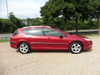 Peugeot 407 SW Estate SE HDi 136 (stunning ruby red metallic) 2006
