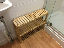Small brown shelving unit