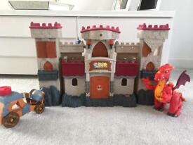 Battleship castle with talking dragon and accessories