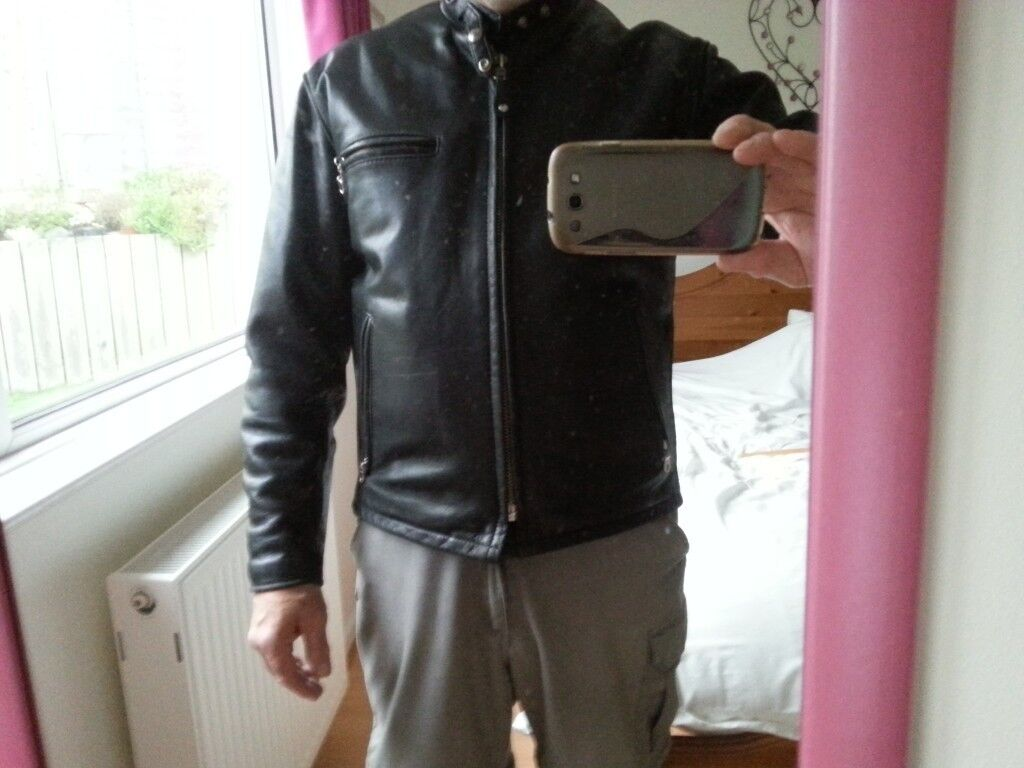bb3ffef63d0 SCHOTT 141 LEATHER MOTORCYCLE JACKET CLASSIC RACER PLUS ZIP OUT LINER UK 40  CHEST PIT 23 INCHES