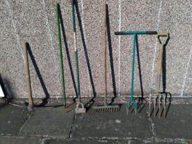 Various garden tools