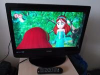 "22"" TECHNIKA hd ready LCD TV with DVD PLAYER and freeview"