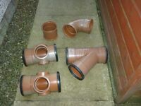 "Various 6"" drainage fittings"