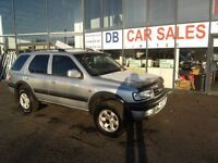 2000 VAUXHALL FRONTERA 2.2DTI 16V STATION WAGON 5D 2171CC AUTO **** PART EX WELCOME