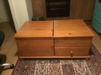 Pine chest of drower and table 10£