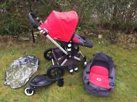 Bugaboo Cameleon 2 Red/Charcoal Pushchair Stroller