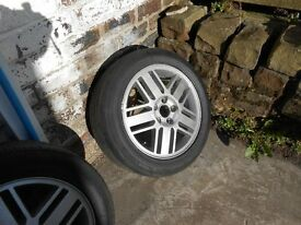 FORD 16 INCH ALLOY WHEELS FOR FOCUS GHIA OR MONDEO GHIA.