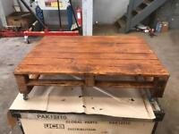 Reclaimed wood, pallet coffee table