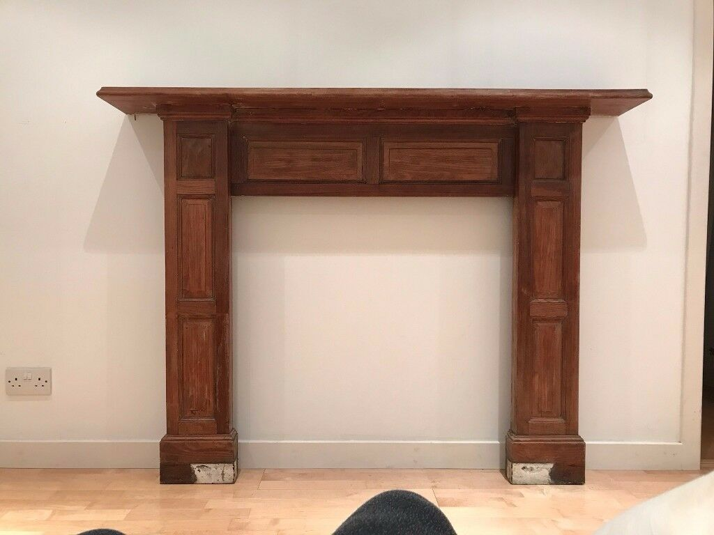 vintage wooden fire surround from new town house lovely surround