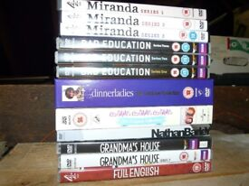 Various comedy series on DVD