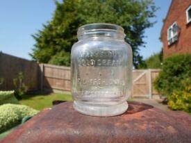Vintage Marvelous cold cream jar