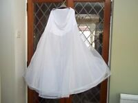 Hooped Underskirt for Wedding/Evening Dress Size Large (Excel.Cond)