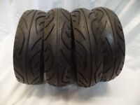 4 x Original Tyres from a Kymco Agility Mobility Scooter size: 80/6.5/8