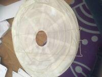 White bubble light shade
