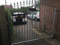 Heavy duty galvanised steel gate