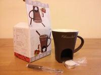 Lovely chocolate fondue set