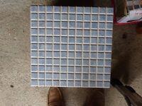 Tiles - large blue mosaic effect