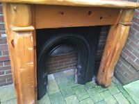 Fireplace surround, mantle & grate