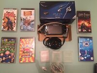 Sony PSP 1003 Console Bundle With 6 Games / Movies, Headphones- 1G